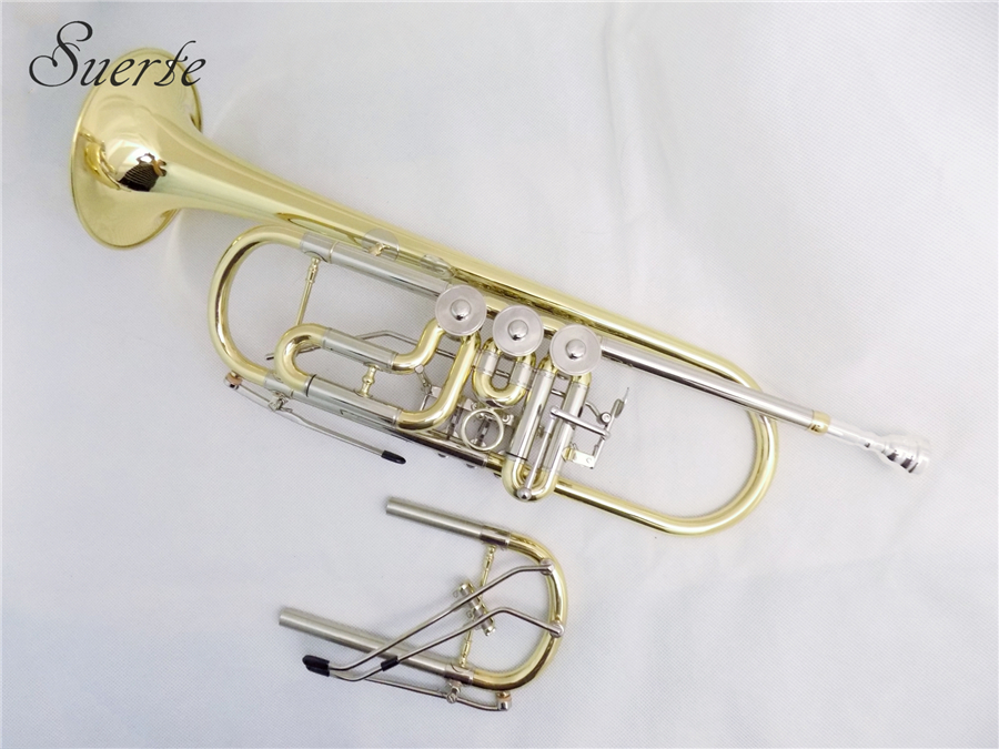 Profissional schagerl trompete bb com extra cupronickel tuning pipe instrumentos musicais trompete bocal