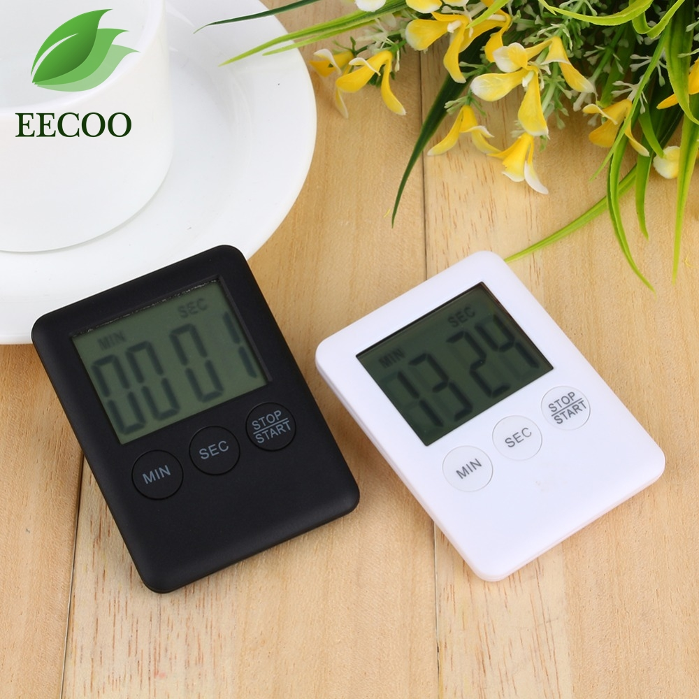 2 Colors Square Large LCD Digital Kitchen Timer Cooking