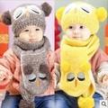 2016 Winter Baby Hats Scarf Sets Kids Owl Knitted Collar Cute Star Children Caps Hats Girls Boys Infantil Wear
