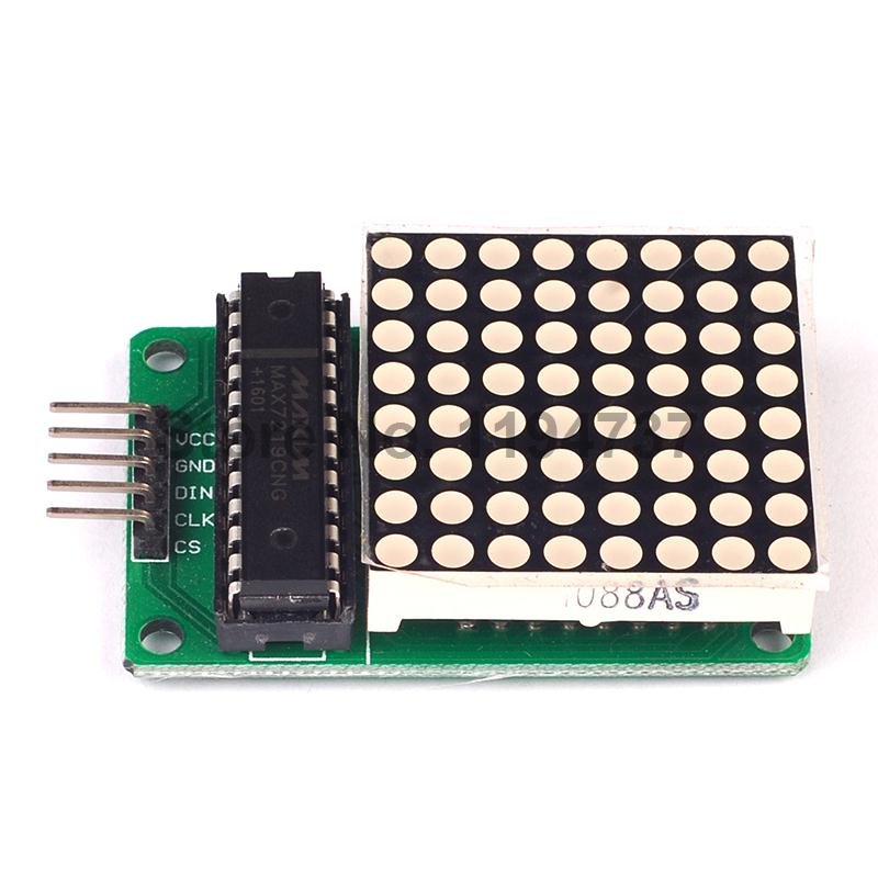2PCS MAX7219 Dot Led Matrix Module MCU LED Display Control Module Kit