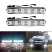 Universal Xenon White 10W LED High Power Daytime Running Light DRL Lamps With On Off Switch