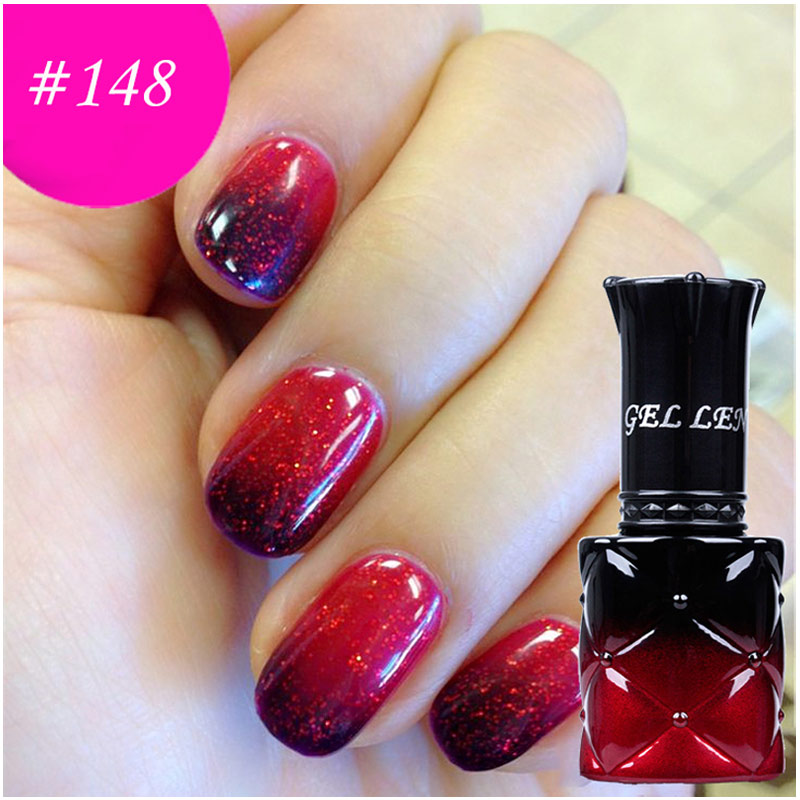 205 Temperatur Change Color Gel Varnish Gel Len Nagel Polsk UV Soak Off Glitter Merk Langvarig Gel Lacquer Nagel Gel Polish
