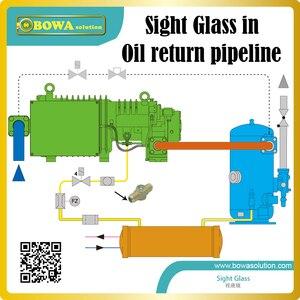 """Image 2 - El cristal de Mira roscado de 1/4 """"indica el estado de refrigeración y refrigerante en el sitio para proteger el sistema en funcionamiento seguro"""