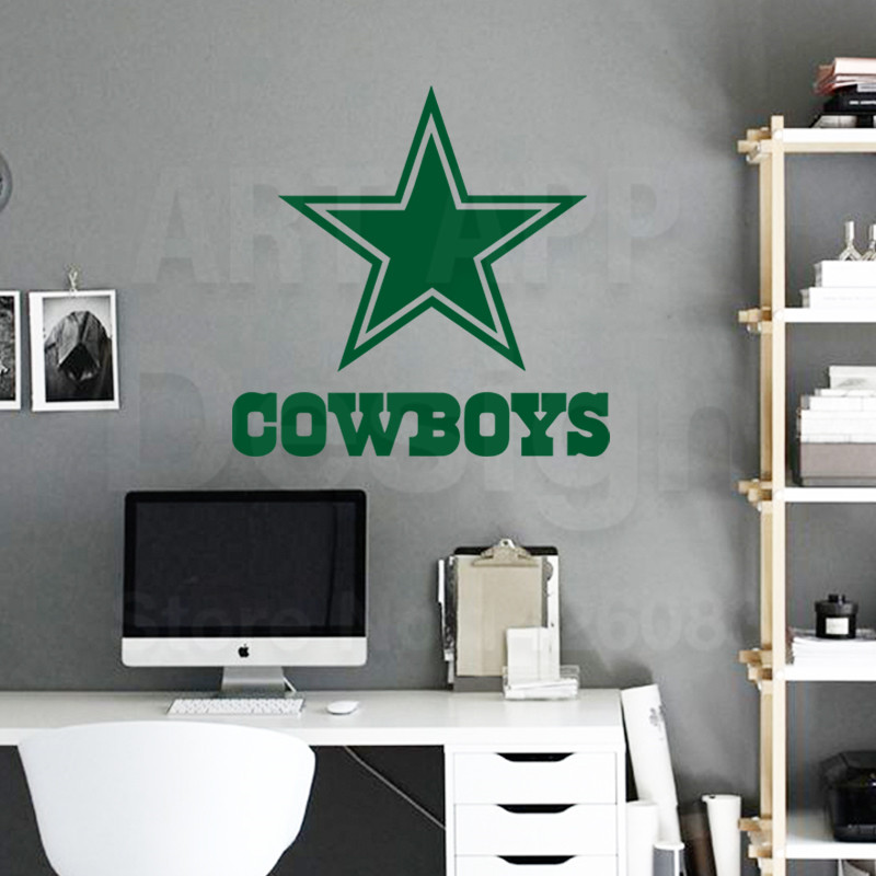 Buy Art New Design Cheap Home Decor Dallas Cowboys Rugby Logo Wall Sticker Removable House Decoration Usa Football Decals In Rooms From