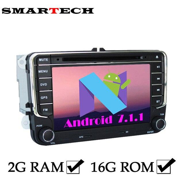 Low Price Smartech 2din Vw Autoradio 2g Ram Android 7 Car Dvd Player