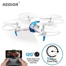 Kedior Hero 3 Drone с Камера живое видео HD 720 P FPV-системы Радиоуправляемый квадрокоптер 13 минут Flying Радиоуправляемые игрушки 1 блесна