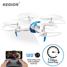 KEDIOR Drone with Camera Live Video 1pc Hero 3 HD 720P FPV RC Helicopter Quadcopter 13mins Flying Remote Control Toys 1 Spinner