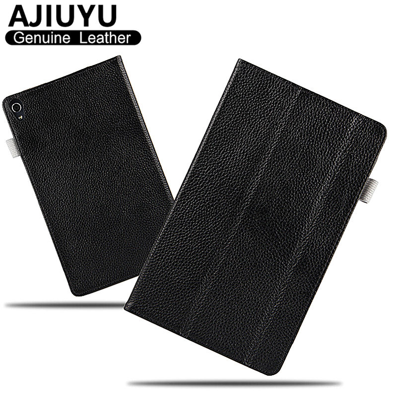 Genuine Leather For Lenovo Tab 3 8 Plus Case Tab3 8.0 Protective Smart Cover Tablet P8 8703F TB-8703X TB 8703N Case Cowhide 8 ultra slim 3 folder silk grain folio stand pu leather cover case for lenovo p8 tab 3 8 plus tb 8703 tb 8703f tb 8703n tablet