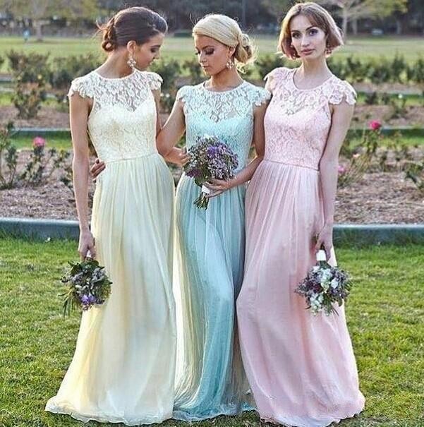 Lace Bridesmaid Dresses Floor Length - Wedding Dress Ideas
