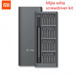 Original Xiaomi Mijia Wiha Daily Use Screwdriver Kit 24 Precision Magnetic Bits Alluminum Box Screw Driver xiaomi smart home Kit
