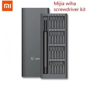 Image 1 - Набор отверток Xiaomi Mijia Wiha, комплект отверток с 24 точными магнитными насадками в алюминиевой коробке