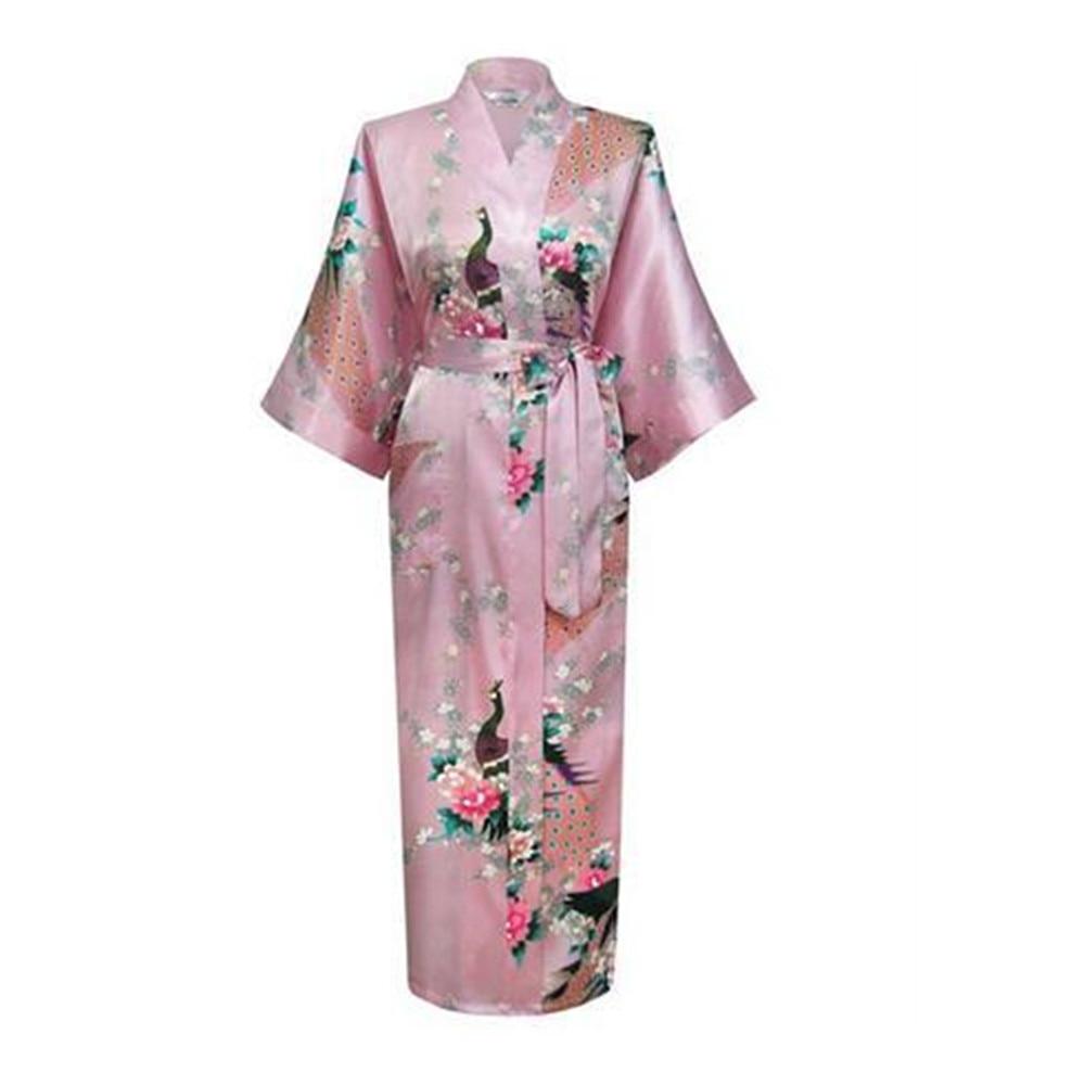 2019 Sexy Japanese Flower Kimono Dress Gown Lingerie Bathrobe Long Robes Sleepwear Sauna Costume Plus Size