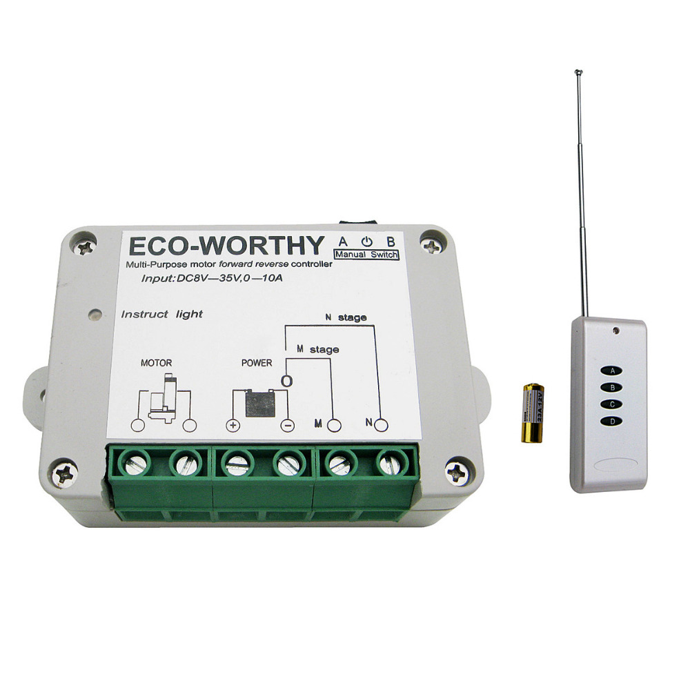 цена на Wireless Remote Control Kit motor controller for Linear Actuators door open for DC motor