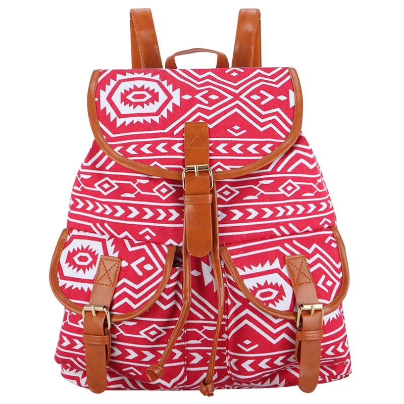 c21e662f4e New Arrival Vintage Mochila Escolar Canvas Women Backpack For Teenage Girls  Back Pack Drawstring Bag Sac a dos Femme Rucksack