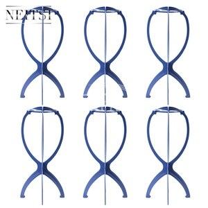 Image 1 - Neitsi Peruk Kafa Standı saç aksesuarları/Araçları Manken Başkanı Standı Peruk Tutucu Mavi Renk 6 adet/grup