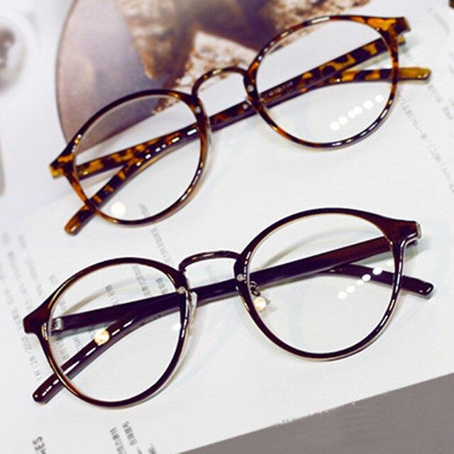 fa9dec9c0 Olhos redondos Óculos de Armação Das Mulheres Dos Homens Marca Retro Ultra  Light Lente Miopia Óculos