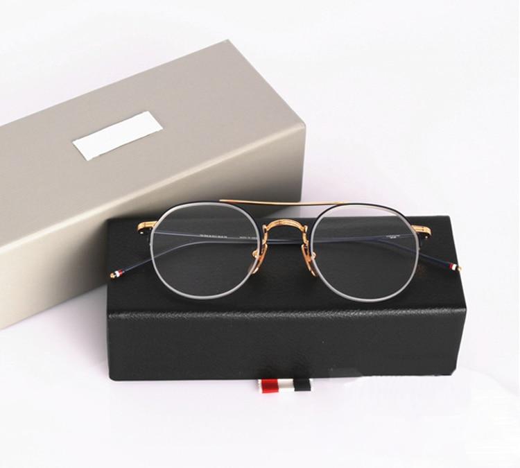 Optische brillen half frame mannen vrouwen computer bijziendheid bril brilmontuur vrouwen vrouwelijke oculos de sol tb903 met doos