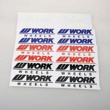 Estilo do carro rodas de trabalho jantes de roda de carro adesivo moto-peças decalque de corrida de vinil carro envoltório adesivo pvc pegatinas automóveis