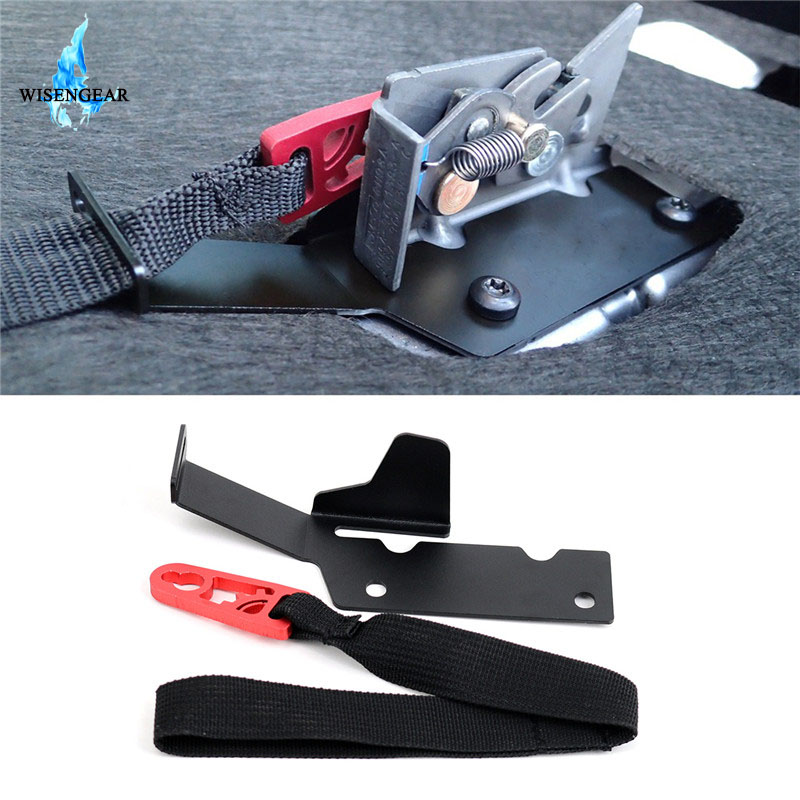 Rear Seat Release Back Seat Red Pull Strap Latch Bracket For Ford F150 Raptor Supercrew 2009-2014 F250 F350 Supercab 2017-2019