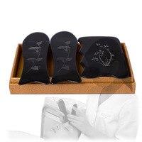 New Ox Horn Engraved Designs Beauty Massage Guasha Tool 1pcs Square Plate 2pcs Fish 3pcs Set