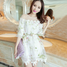 Summer Style 2017 High-end Party Dresses Elegant Sweet Lovely Girl Organza Dress Casual Loose Ball Gown Vestido De Renda