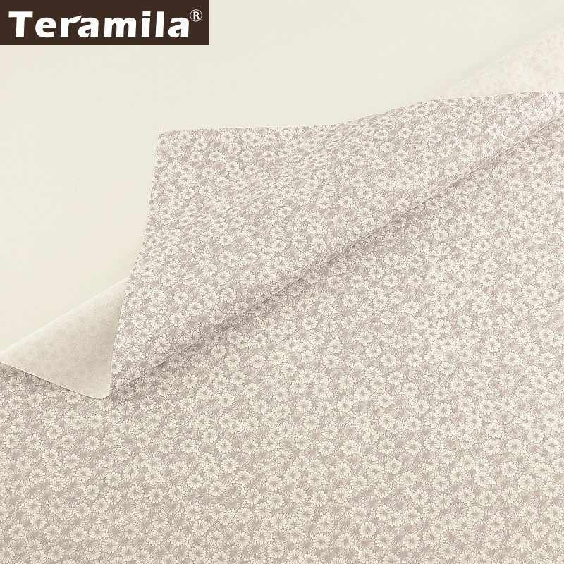 Teramila-tissu à fleurs 100% coton   Tissu diy, en tissu fleuri, Telas Algodon Ankara, couettes en Patchwork, pour bébé enfant, coussin de beedbed