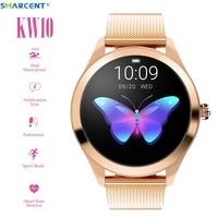 Smarcent KW10 Smart Uhr Frauen 2019 IP68 Wasserdicht Herz Rate Überwachung Bluetooth Für Android IOS Fitness Armband Smartwatch-in Smart Watches aus Verbraucherelektronik bei