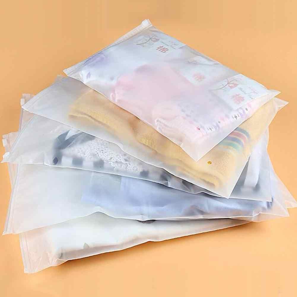 40# 2019 Practical Portable 10Pcs Storage Bags Travel Transparent Clothes Socks Storage Zipper Bag Container Organizer
