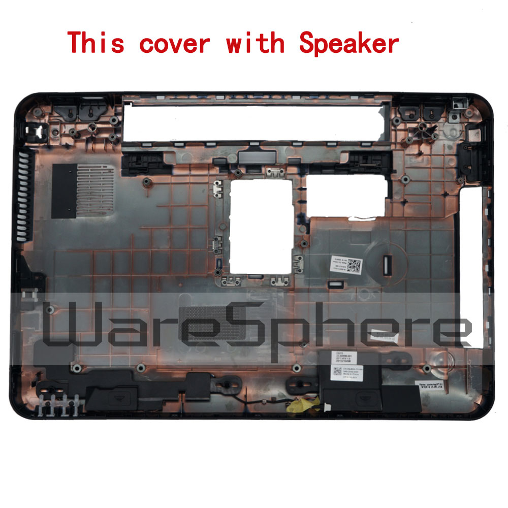 New Original for <font><b>Dell</b></font> Inspiron 15R <font><b>N5110</b></font> M5110 Bottom <font><b>Case</b></font> Cover With Speaker Black image