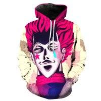 Liu Maohua's latest men's / women's hip hop 3D printing personality hunter x hunter hisoka death pocket pullover hoodie shirt