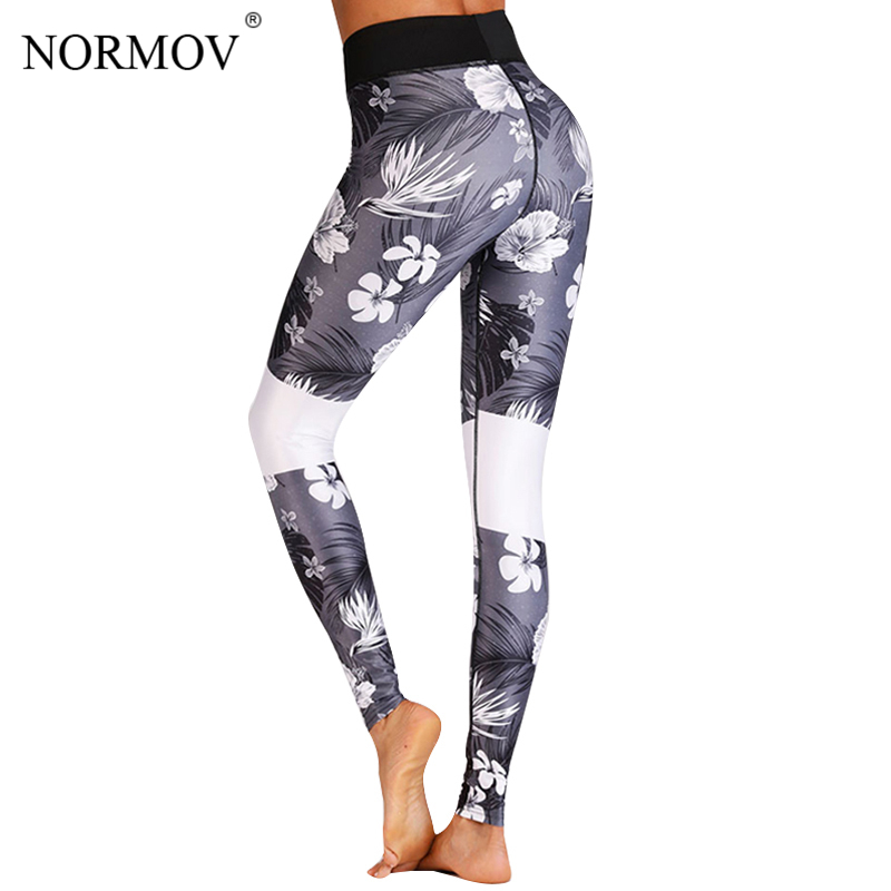 NORMOV Casual High Waist Leggings Women Sexy Push Up Printed Legging Femme Fitness Clothing Floral Print Workout Jeggings