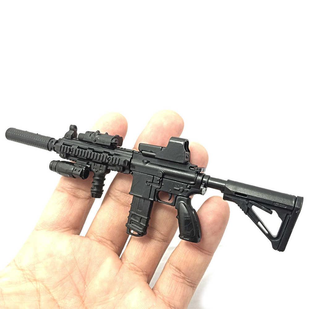 1:6 1/6 escala montar figuras de ação rifle hk416 modelo arma 1/100 soldado peças & componentes pode usar para bandai gundam modelo brinquedo
