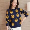 4185-2016 Coreano outono nova camisola das mulheres 51