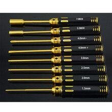 HSS Titanium Juego de Herramientas para coche, M3 M4 Premium, destornilladores de tornillo y toma hexagonales
