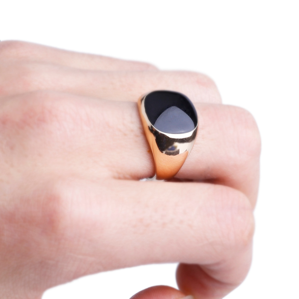 GENBOLI Gold and Silver Color Luxury Men Male Ring Jewelry Titanium ...