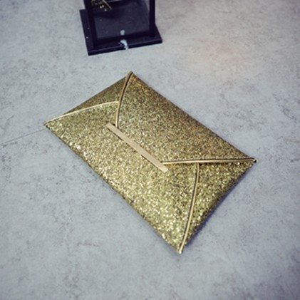 New arrival day clutches bags Purse Clutch Handbags Shiny Solid Ultrathin Women Evening Party Bags Gold Sequins Envelope Bag