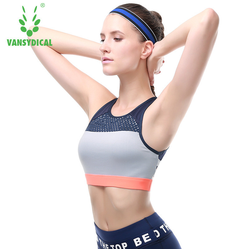 63323e73fe Vansydical hot sports bra women mesh fitness top shockproof jpg 800x800 Gym  bra spandex sport hot