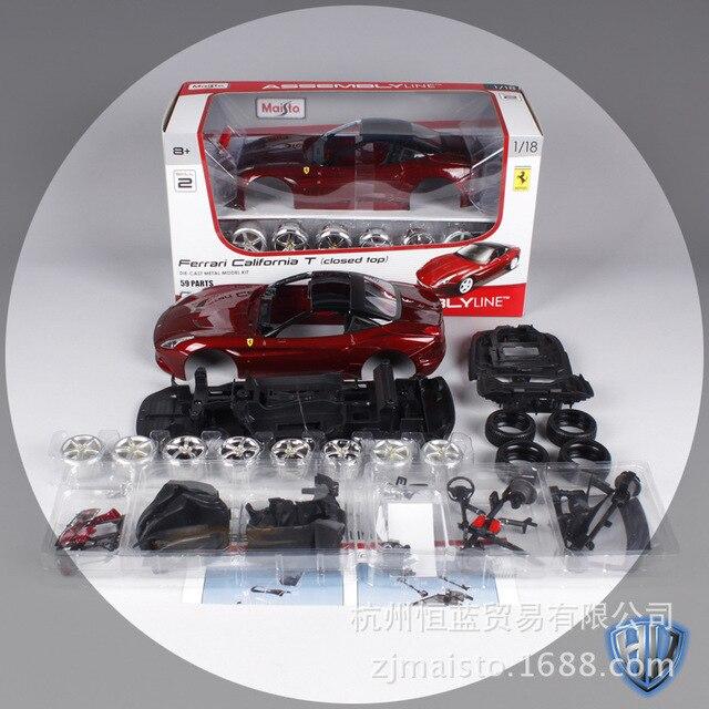 Maisto 1:18 modelos de carros Esportivos para Ferrari California T carro de corrida Diecast modelos carmetal crianças brinquedos para Crianças