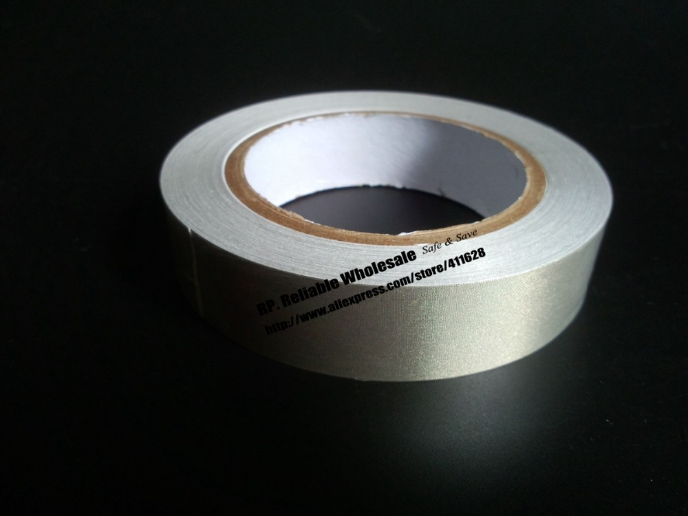 1x 45mm* 20 meters One Side Adhesive Conductive Cloth Tape for Electromagnetic Shielding, Phone, POP Cable Masking 1x 8mm 20m emi shielding tape silver plain conductive fabric for pc phone cable wraping electromagnetic shielding