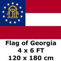 4X6FT 100D פוליאסטר גאורגיה דגל המדינה של ארה