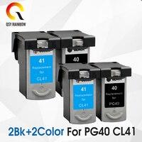 4 pcs PG 40 CL 41 Compatible Ink Cartridge PG40 41 For Canon Pixma MP140 MP150 MP160 MP180 MP190 MP210 MP220 MP450 MP470 printer