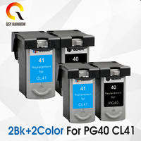 4 pcs PG 40 CL 41 Compatible Ink Cartridge PG40 41 For Canon Pixma MP140 MP150 MP160 MP180 MP190 MP210 MP220 MP450 MP470 printer