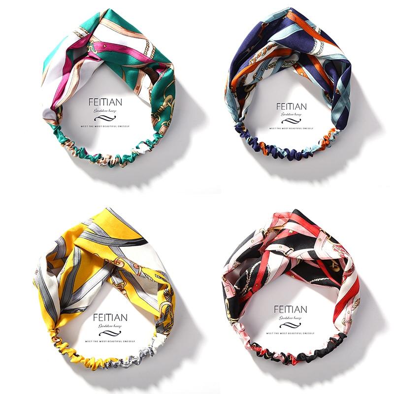 94f26ef6e7ad Mode coréenne Élastique Twist Bandeau Top Noeud Turban D été Floral Noué  Bandeau HeadWrap Cheveux Accessoires pour Femmes Bandana