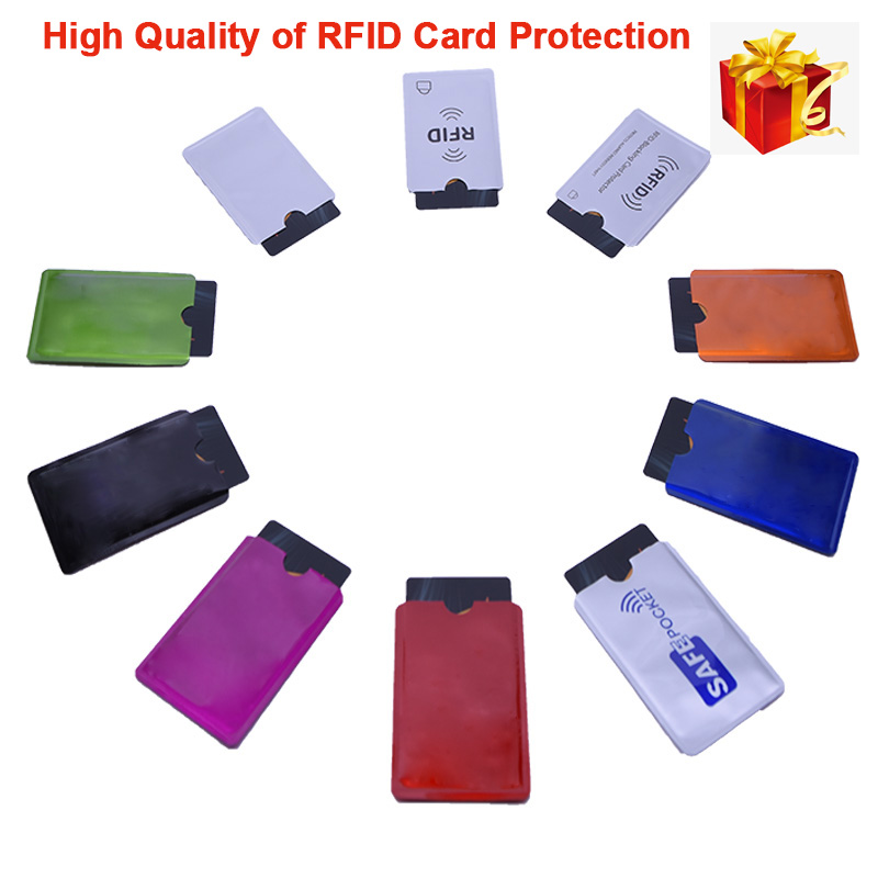 5pcs/set RFID Shielded Sleeve Card Blocking 13.56mhz IC card Protection NFC Security Card Pevent Unauthorized Scanning 2pcs lot rfid protection sheath ic card shielded sleeve nfc security card storage home office storage