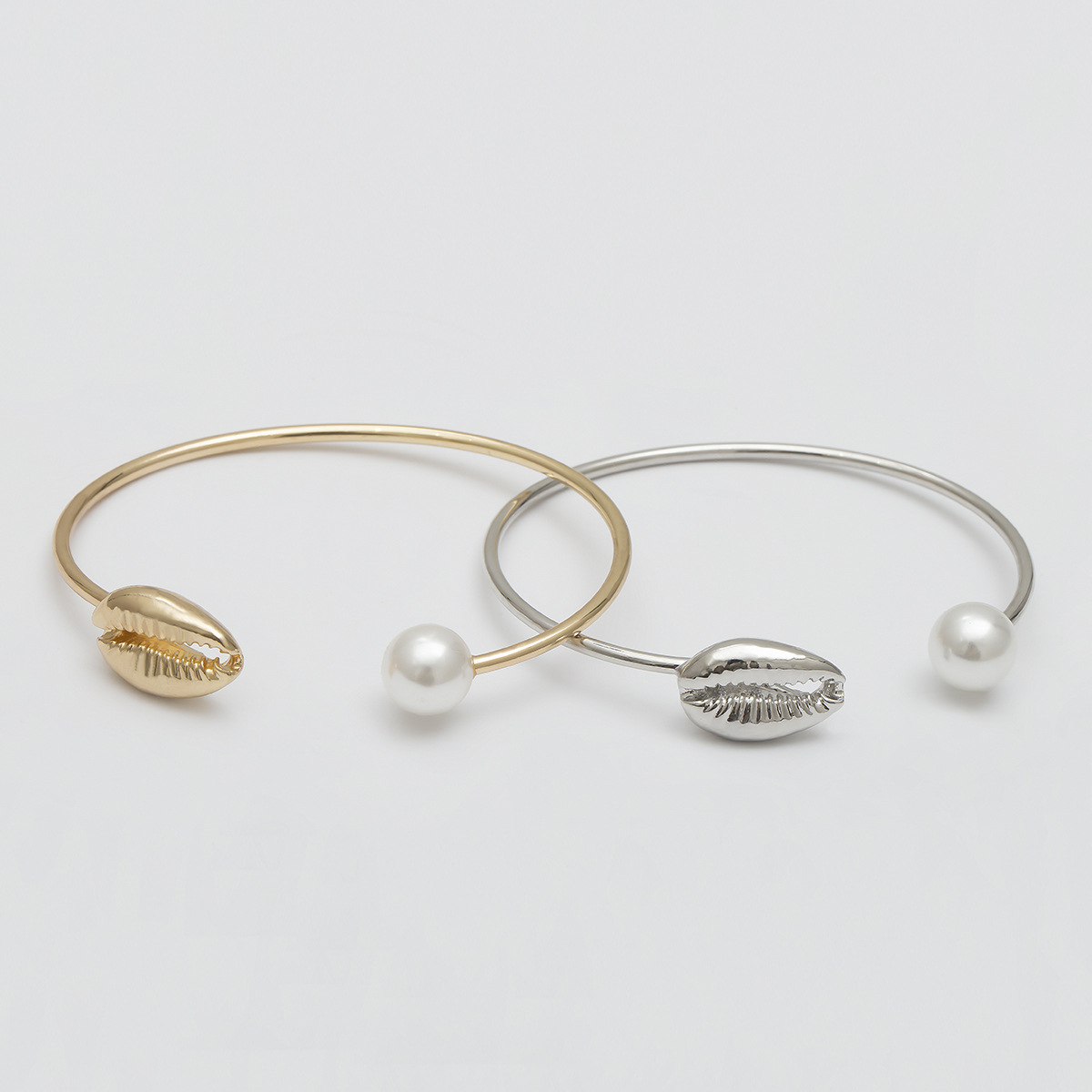 Gold Color Cowrie Shell Bracelets for Women Pearl Beads Charm Cuff Opening Bracelet Bohemian Beach Jewelry Mujer Pulseras 3