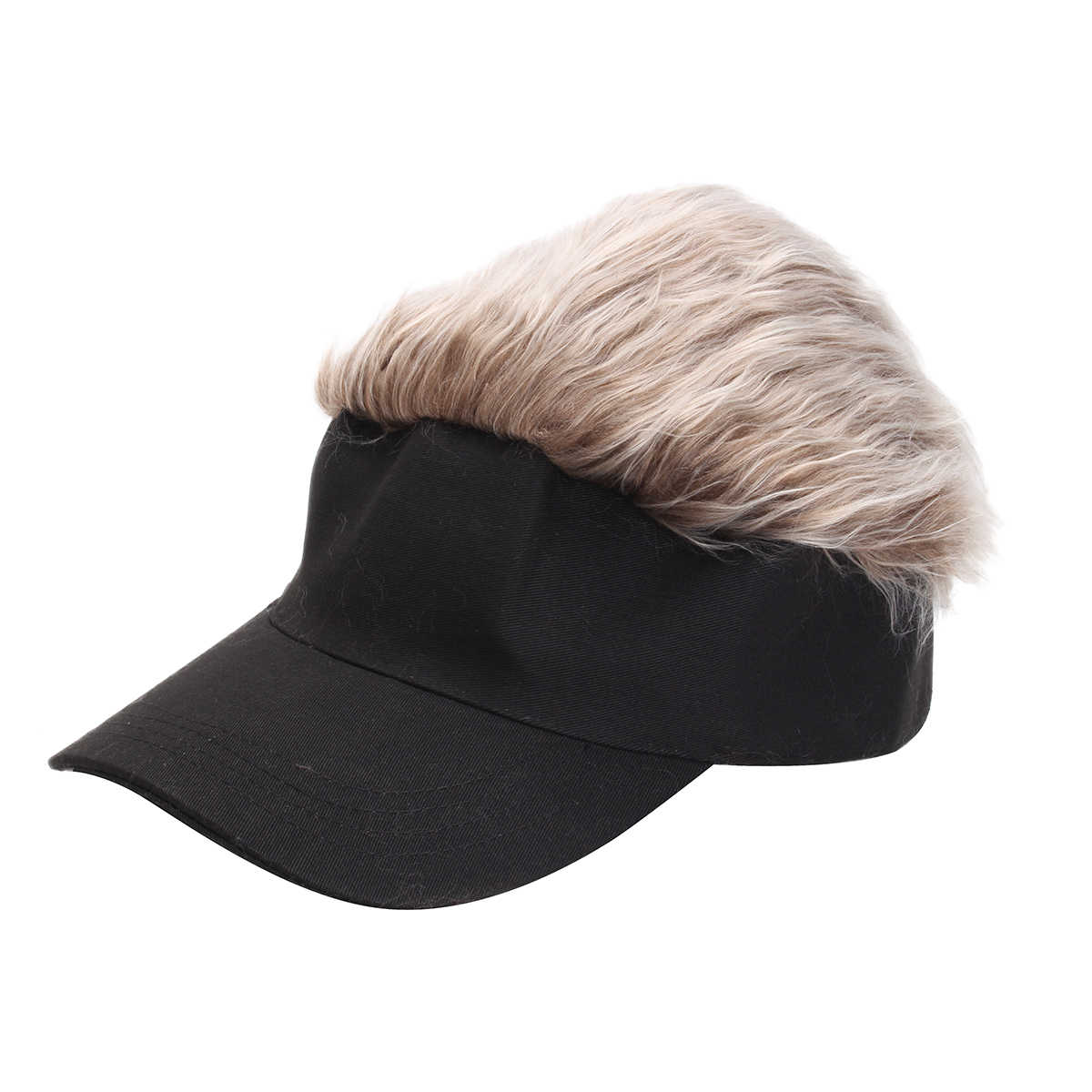e0b923761ea Detail Feedback Questions about Newest Novelty Baseball Cap Wig Cap Women  Men Fake Flair Hair Visor Sun Hat Toupee Funny Hair Snapback Hats Casquette  Cool ...