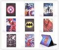 Dos desenhos animados fique tablet case capa para apple ipad 2 3 4 Homem-aranha superman Captain America The Avengers Homem De Ferro Batman Para crianças