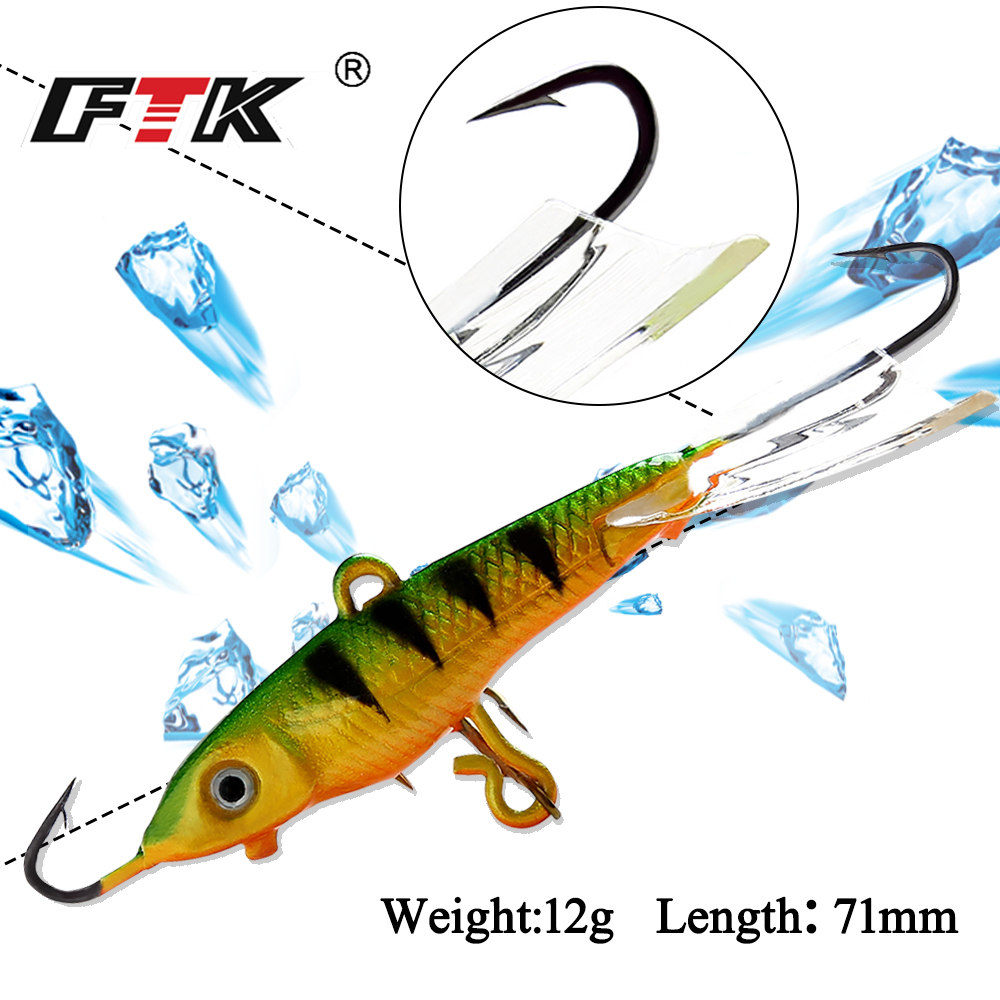 Ftk 1pc 12g 7 1cm winter fishing lure ice fishing jig bait for Pike ice fishing lures