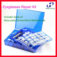 New Eyeglasses Repair Kit Glasses Screws Nose pads Nuts Washers Tips Optical Supplies Tool Set Optical Store Use