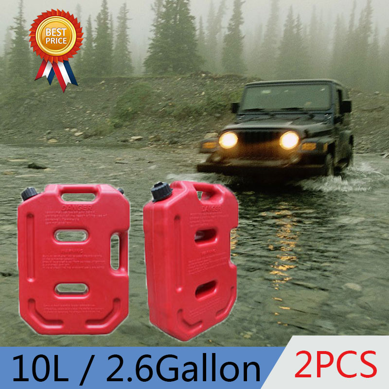 2pcs 10L 2.6 Gallon Capacity Plastic Benzin Tank New Canister Fuel Cans For Atv HDPE Petrol Tanks присадка liqui moly benzin system pflege для ухода за бензиновой системой впрыска 0 3 л